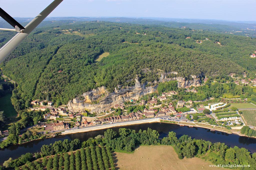 Vista aérea de La Roque-Gageac