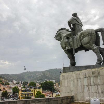 Statue of King Vakhtang Gorgasali, Tbilisi. Georgia