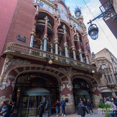 The Palau de la Música Catalana, a Nouveau building.