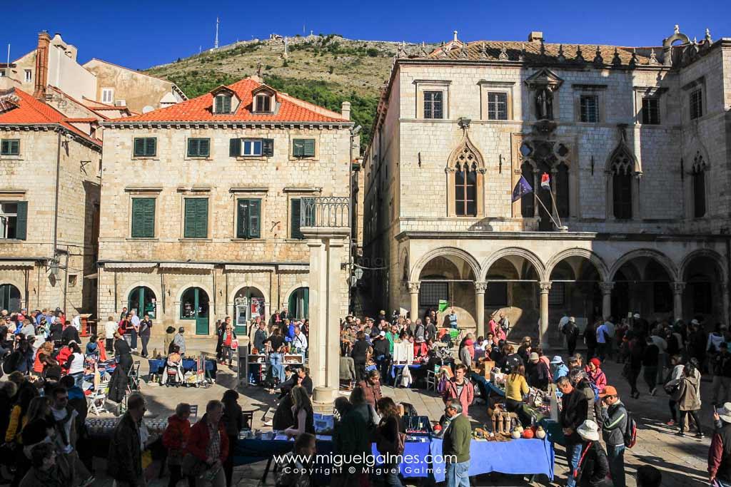 plaza Sponza y palacio Sponza, Dubrovnik