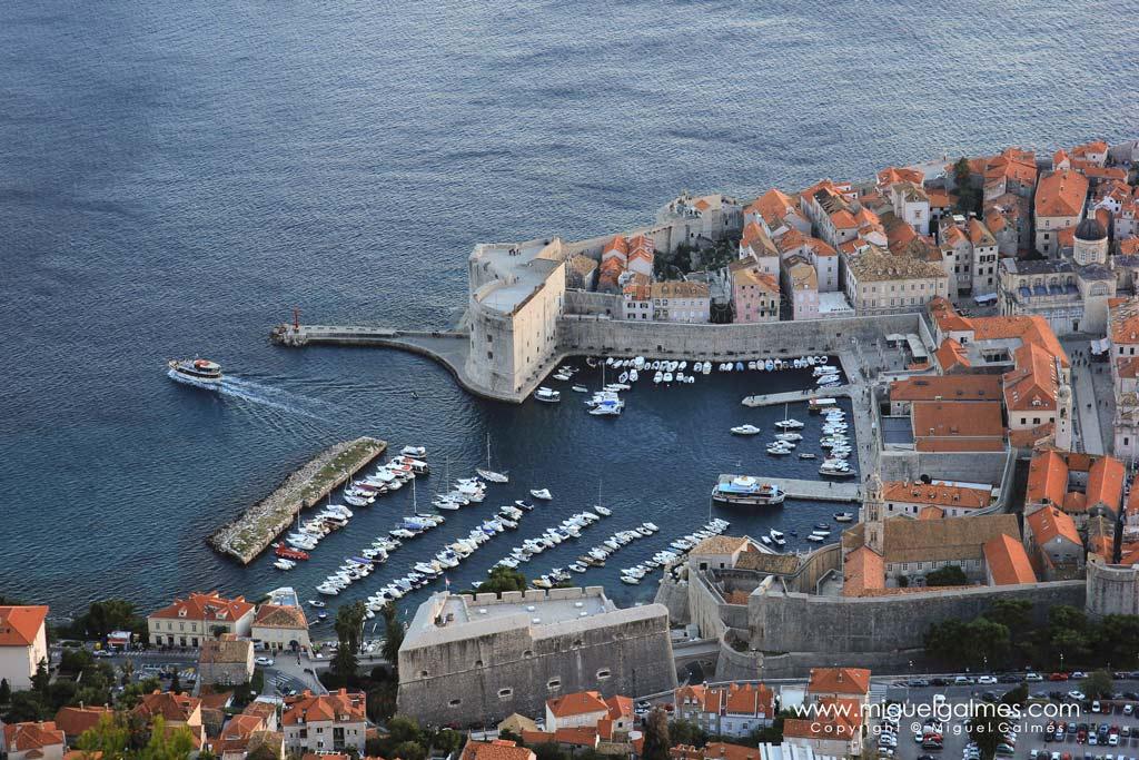 Vista aérea del puerto de Dubrovnik