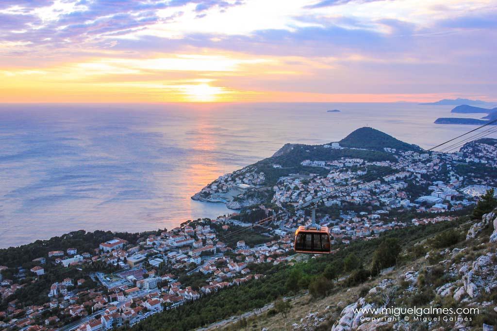 Atardecer de los alrededores de Dubrovnik