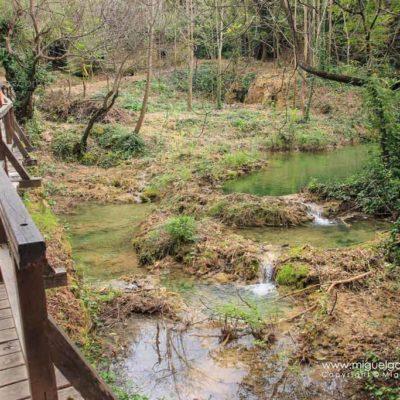 wooden footbridge in Krka National Park