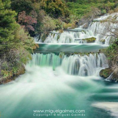 Skradinski waterfall, Krka National Park. Croatia, Europe.