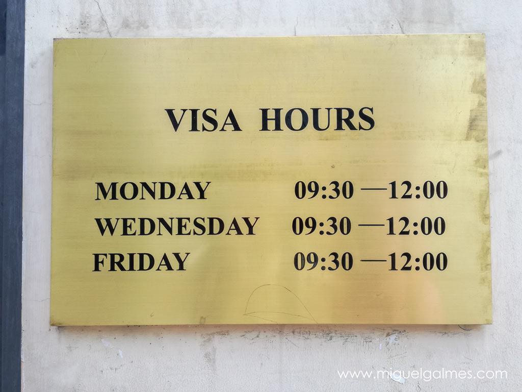 horario visas