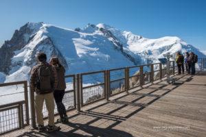 terraza con vistas al Mont Blanc